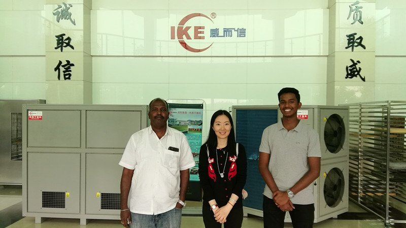 Indian customer visited our factory during the Guangzhou Trade Fair